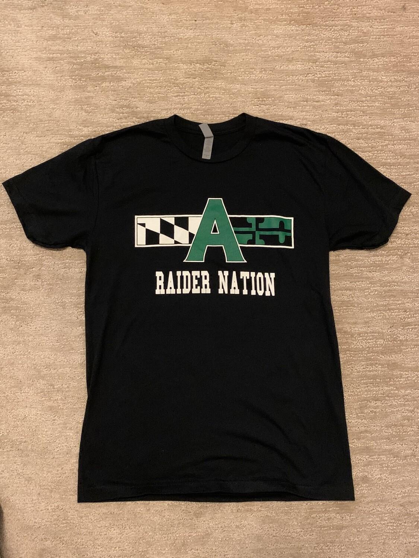 Raider Nation T shirt- large, black