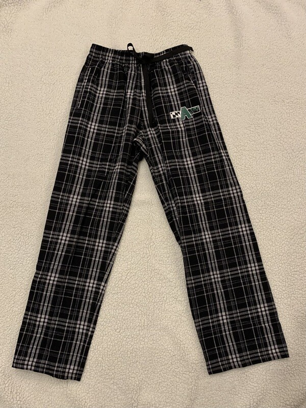 A Flag Pajama Pants, black/white flannel