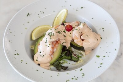 Avocado and Prawns with Pink Sauce