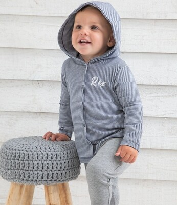 Baby T-shirt style Hoodie Plain Or With Free Embroidered Name or Initials