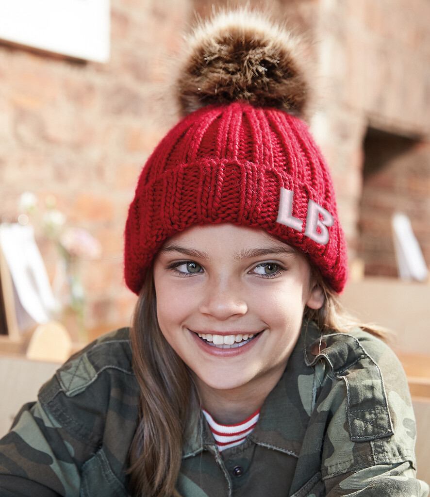 Pom Pom Hat With Optional Embroidered Initials Free