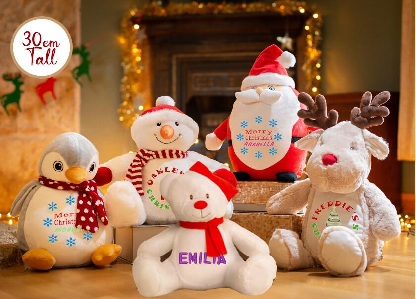 Embroidered Christmas Teddies