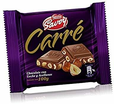 Carre Milk Chocolate with hazelnut 100g