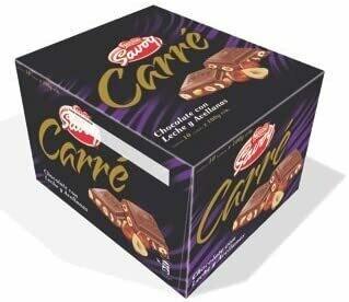 Carre Milk Chocolate with hazelnut 10 units