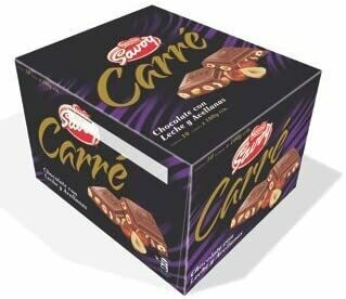 Carre Milk Chocolate with hazelnut 10 units