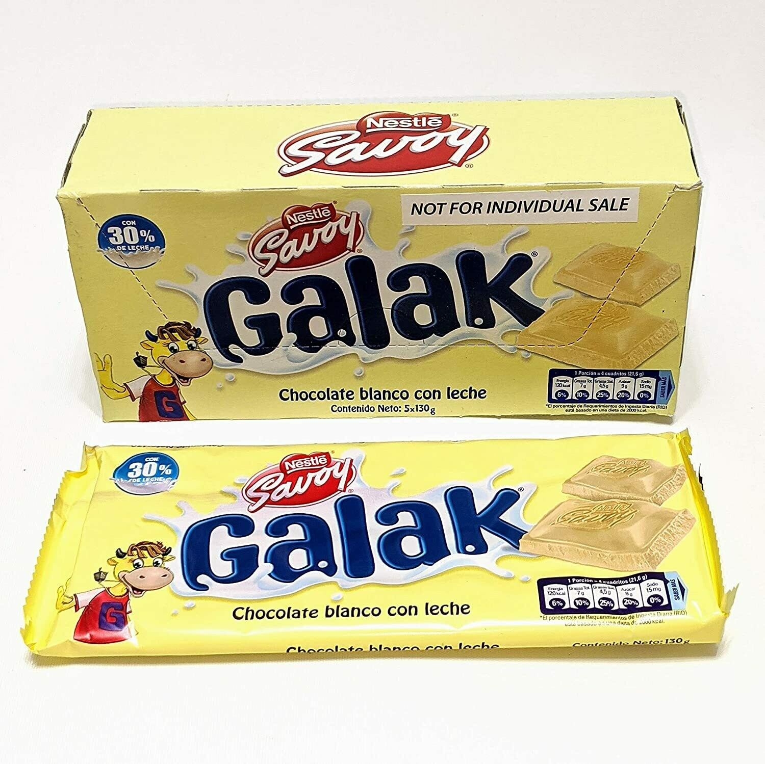 Chocolate Blanco Galak 30g 12 Un Box