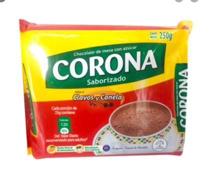 Chocolate Corona Clavos Y Canela 250