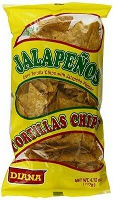 Diana Tortilla Chips Jalapeño 4.12 Iz