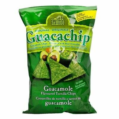 El Sabroso Guacamole Chips 340g