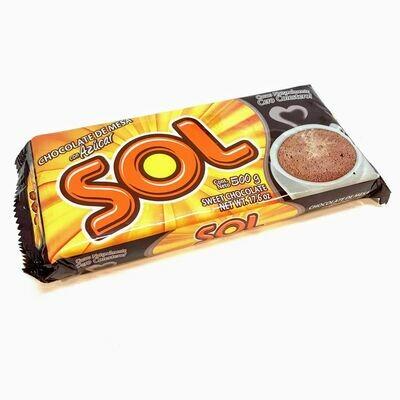 el sol chocolate con azucar