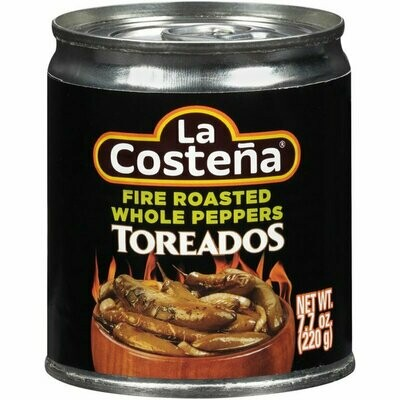 La Costeña Fire Roasted Whole Peppers 220g