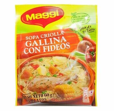 Maggi Sopa Criolla Galina Con Fideos 60.1g