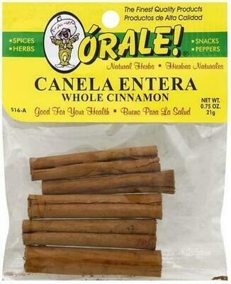 Orale Cinnamon Whole Canela 1.5 oz