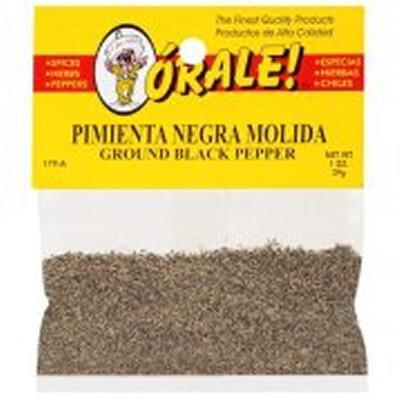 Orale Pimienta Negra Molida 28g