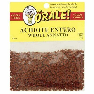 Orale Achiote / Onoto Entero 2oz