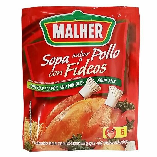 Malher Sopa Sabor Poll Con Fideos 60g