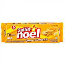 Noel Crakers saltin queso y mantequilla