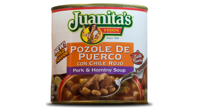 Juanita's Pozole De Puetco Con Chile Rojo ,709g