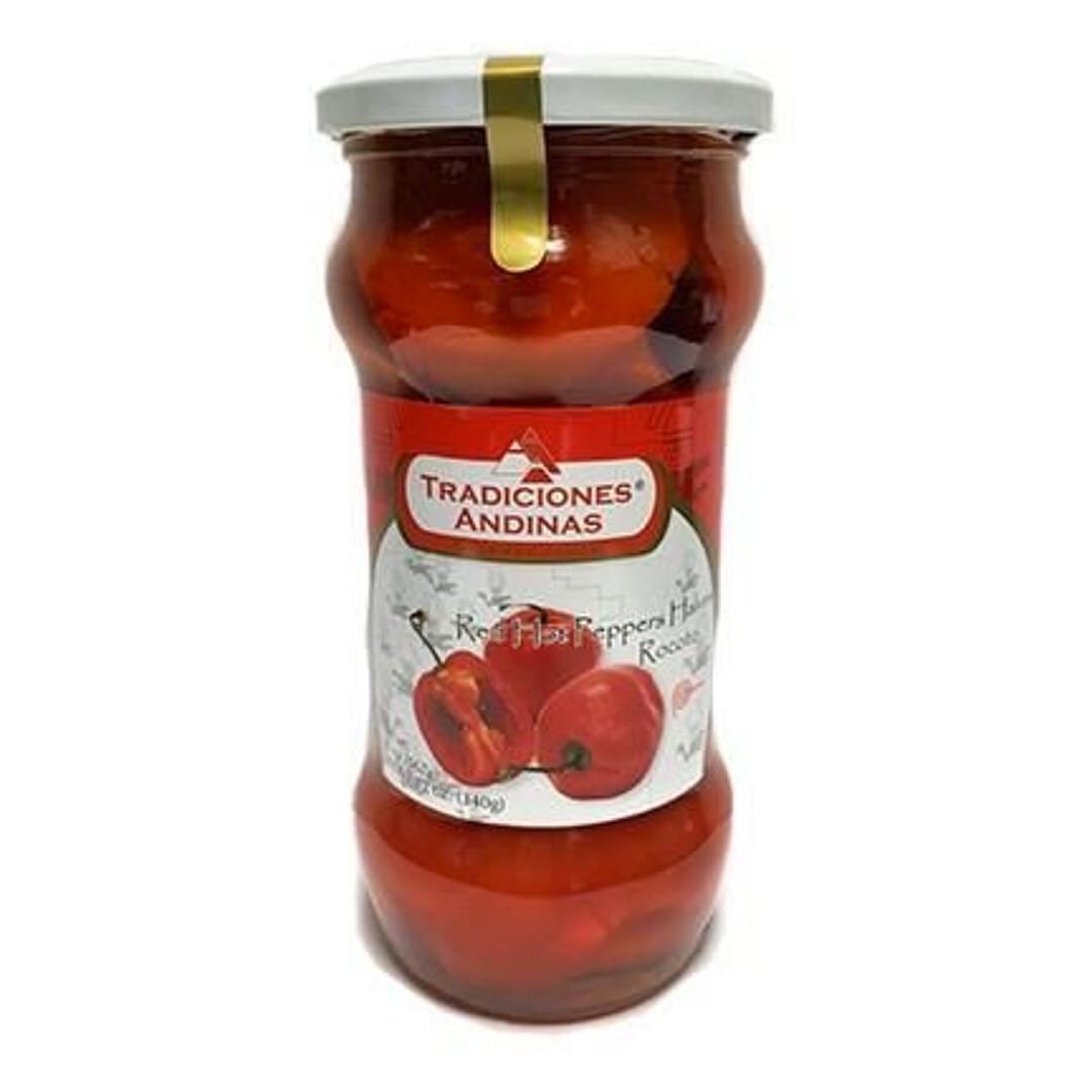 Tradiciones Andinas red hot peppers halves rocoto 20oz