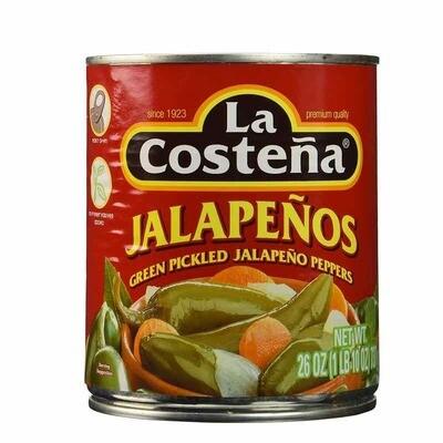 La Costena Whole Jalapeno 26 Oz