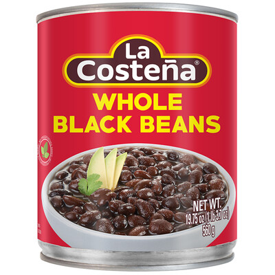 La Costeña Whole Black Beans 29 Oz