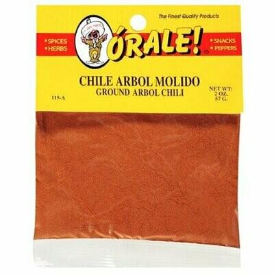 Orale Chile Arbol Molido