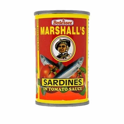 Marshall's Sardinas En Salsa De Tomate 8.3 Oz