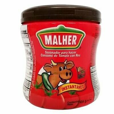 Malher consome de tomate con res