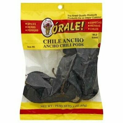 Orale Ancho Chili Pods 3 oz