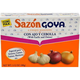 Sazon Goya Con Ajo Y Cebolla