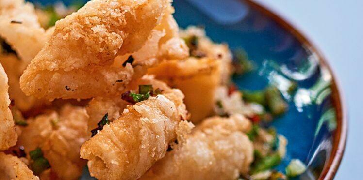 Calamars croquants au sel et poivre