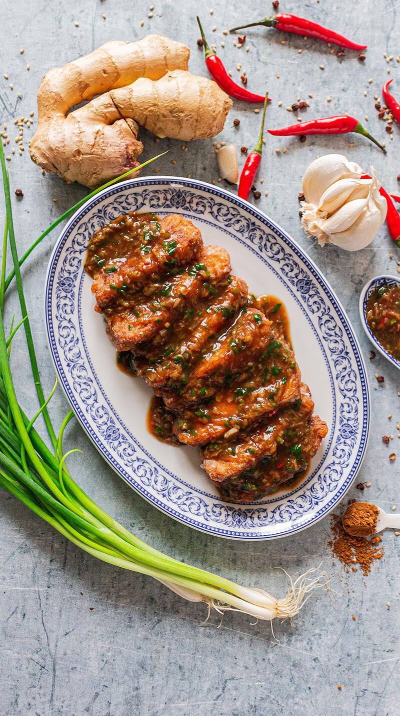 Poisson à la sauce piquante à la mode sztchuan