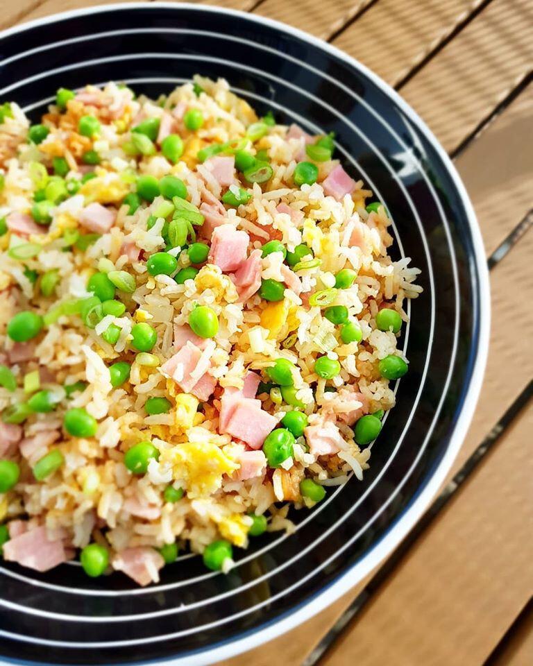 Riz cantonais avec jambon
