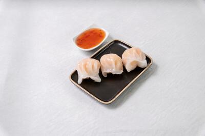 Raviolis ha-kau aux crevettes à la vapeur (3 pièces)