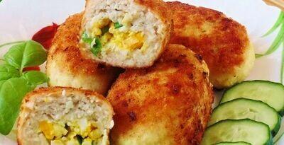 Зразы куриные с сыром и зеленью