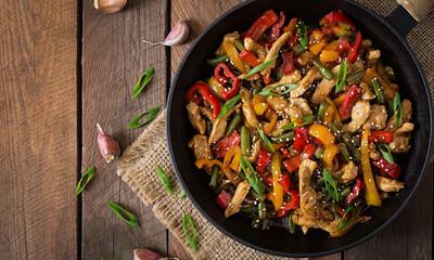 Говядина с овощами ВОК