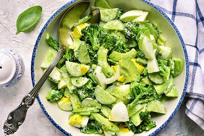 Салат «Зеленый винегрет»