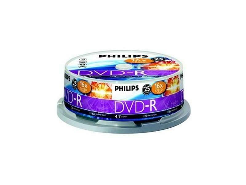 Philips DVD-R 4.7 GB 120min 1-16X speed 25 Spindel
