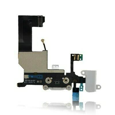 iPhone 5 Audio Flex / Lightning Dock Connector Flex + Mic - Weiss