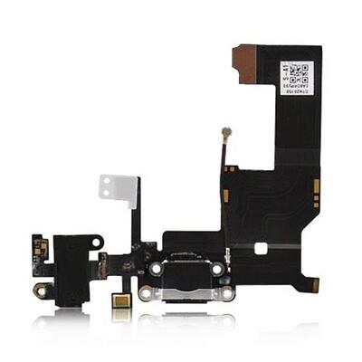 System Usb Anschluss Audio Flex Cabel Black iPhone 5 schwarz