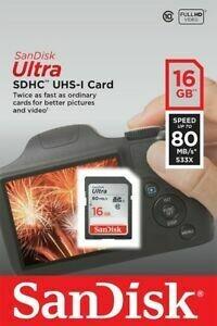 SanDisk 16GB 80 MB/S