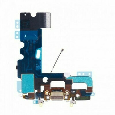 Flex mit Lighning-, Kopfhörer Anshluss und Mikrofon für iPhone 6S Plus Schwarz / Grau