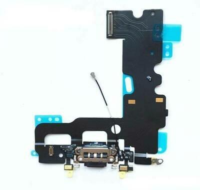 Flex mit Lightning-, Kopfhörer Anschluss und Mikrofon für iPhone 7 Plus Grau