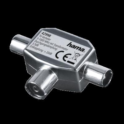 Hama Antennen-Verteiler Koax-Kupplung - 2 Koax-Stecker