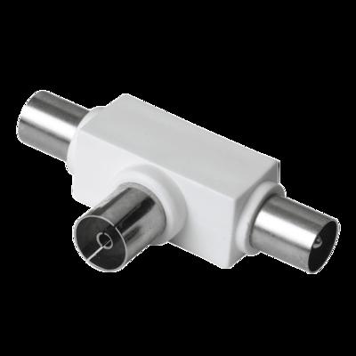 Hama Antennen-Verteiler, Koax-Kupplung - 2 Koax-Stecker