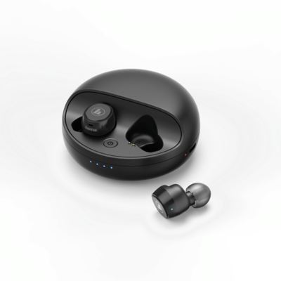 "Hama Bluetooth®-Kopfhörer ""Disc"", In-Ear, Full Wireless, Mikro, Ladestation"