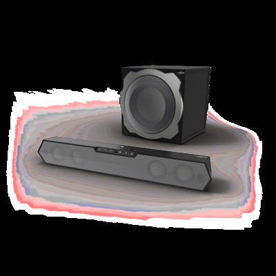 """uRage Wireless-Multichannel-Gaming-Sound-System """"uRage SoundZbar 2.1 Unleashed"""""""