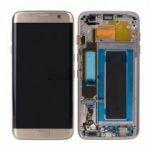 Samsung Galaxy S7 Edge Bildschirm mit Rahmen Gold