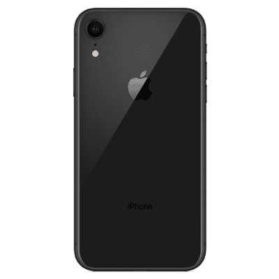 Back Cover Glass with Big Camera Hole for iPhone XR Schwarz
