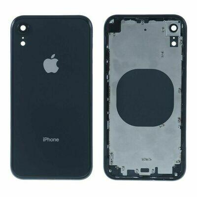 iPhone XR Backglass / Mittelrahmen + Tasten-Set  Schwarz